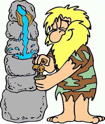 Cave Clipart Clip Caveman Mancave Cliparts Water