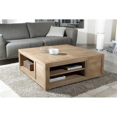 table basse carr 233 e avec niches de rangement meubles macabane meubles et objets de d 233 coration