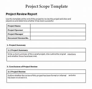 8 sample project scope templates to download sample for Sample scope document template