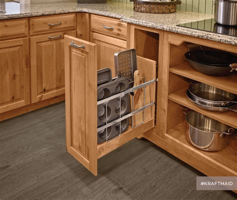 kitchen cabinet cookie sheet organizer kraftmaid kitchen tray baking sheet storage rustic 7756