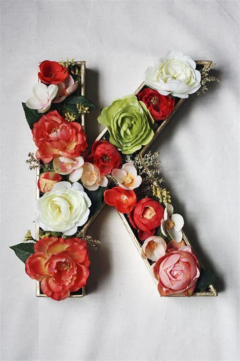 floral monogram wreath home