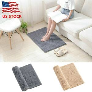 shaggy chenille bath rugs  slip water absorbent