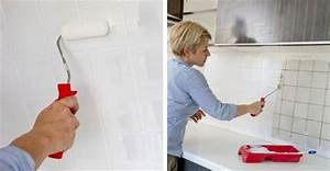 Peindre Faience Cuisine : repeindre le carrelage d 39 une cr dence de cuisine restauration meubles et objets decoraci n ~ Melissatoandfro.com Idées de Décoration