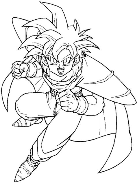 goku coloring pages  printable goku coloring pages