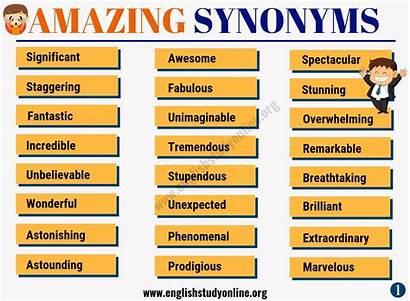Amazing Synonym Synonyms Awesome Words Instead English