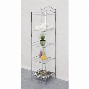 Essential home 5 shelf storage tower home furniture for Kmart bathroom furniture