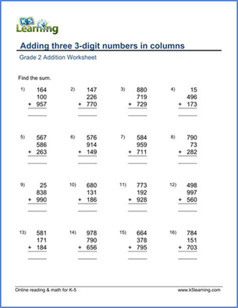3 digit math worksheets free place value worksheets