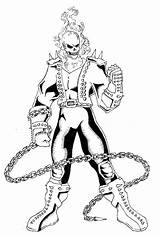 Coloring Ghost Rider sketch template