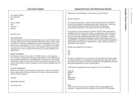 Emailing Resumes by Resume Exles Templates 10 Emailing Resume And Cover Letter Sle Detail Emailing Resume And