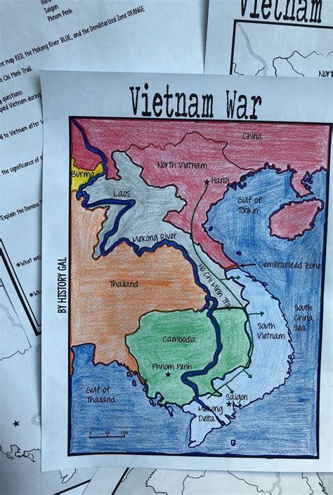 vietnam war map activity map activities vietnam war
