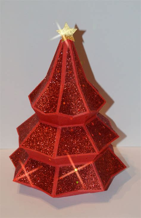 This free svg cut file comes in a single zip file with the following file formats: 3D Christmas Tree with red glitter paper. Designed by ...