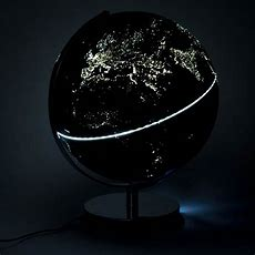 "12"" City Lights Globe Light  Light Up The World Menkind"