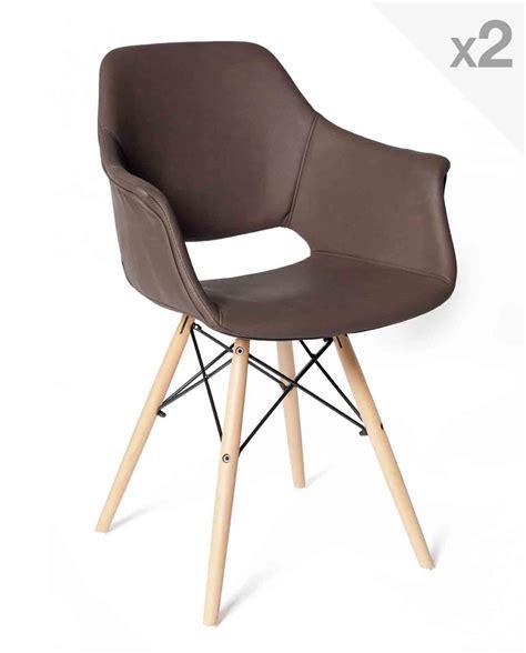 lot de 2 chaises lot de 2 chaises scandinave avec accoudoirs soho kayelles