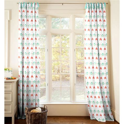 coral  teal arrow drape panel carousel designs