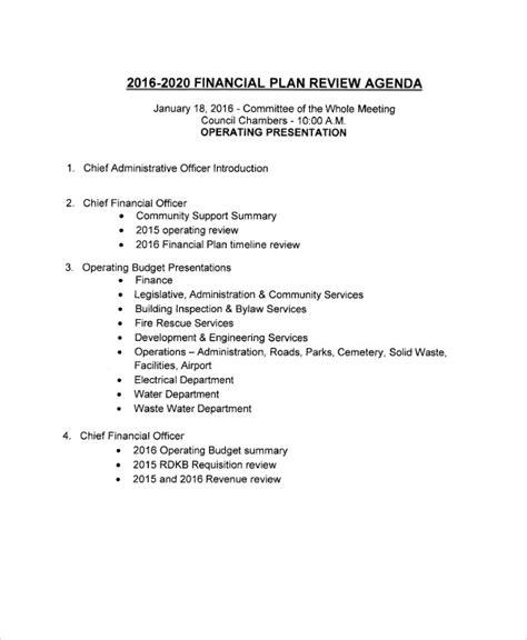 sample review agenda  sample  format