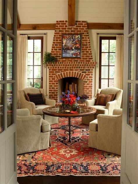 fireplaces stone brick   hgtv