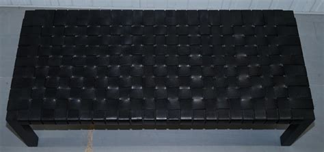 However, it does give you the burden of protecting leather from sharp book corners, damp drinks and other rusty and. Ralph Lauren Hollywood Black Woven Leather Cocktail Coffee Table Bench at 1stdibs