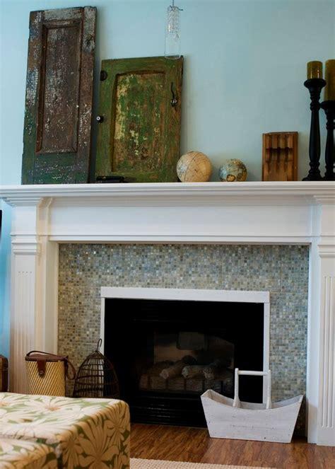 mosaic tile fireplace ideas  pinterest