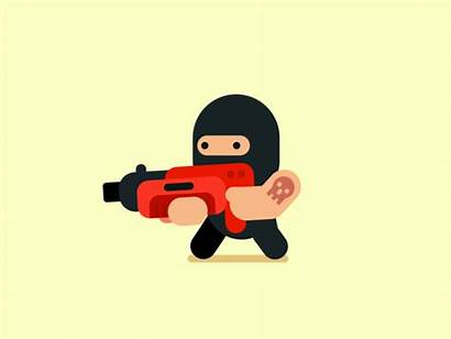 Character 2d Animation Simple Flat Vector Shooting