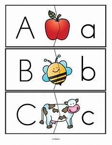 free alphabet upper and lower case letters puzzle With preschool letter games