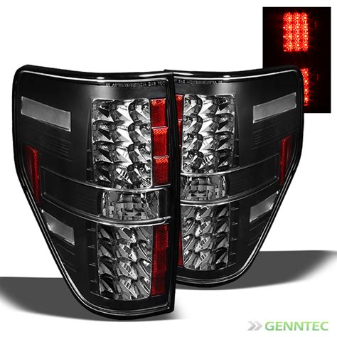 2014 f150 tail lights for 2009 2014 ford f150 led blk tail lights rear brake