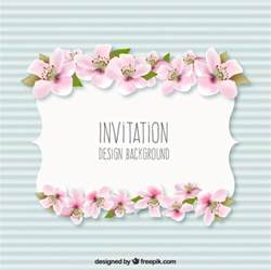 Free Invitations with Flowers