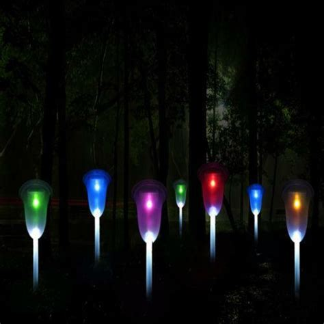 colored solar lights outdoor solar lights color changing ebay