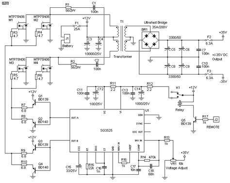 Vcr Antenna Switch Circuit Diagram by Switchmode Power Supply For Car Audio Circuit Diagram World