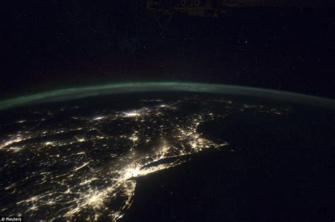 international space station video captures americas