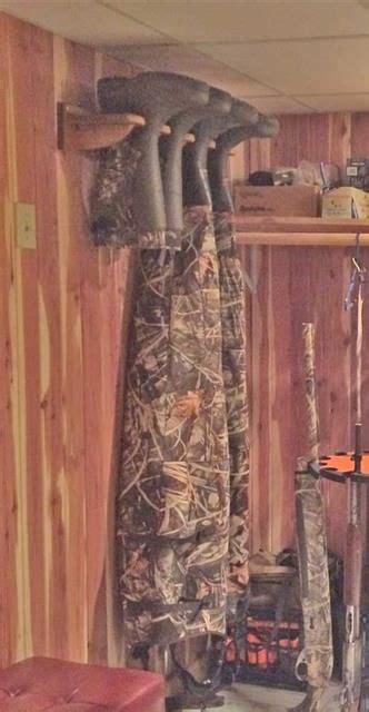 bootfoot waders  wader hanger hunting cabin decor