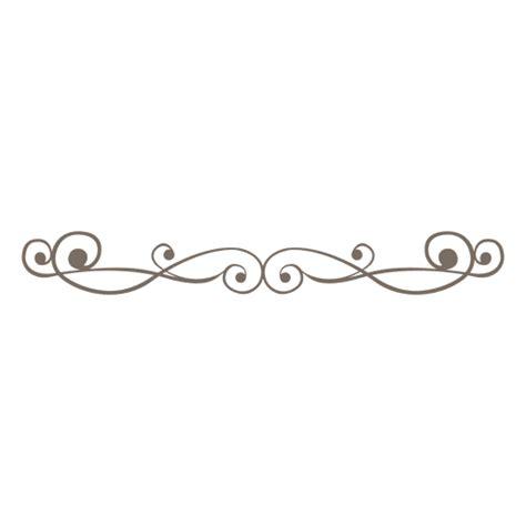 Decorative Divider Lines - ornate line divider decoration transparent png svg vector