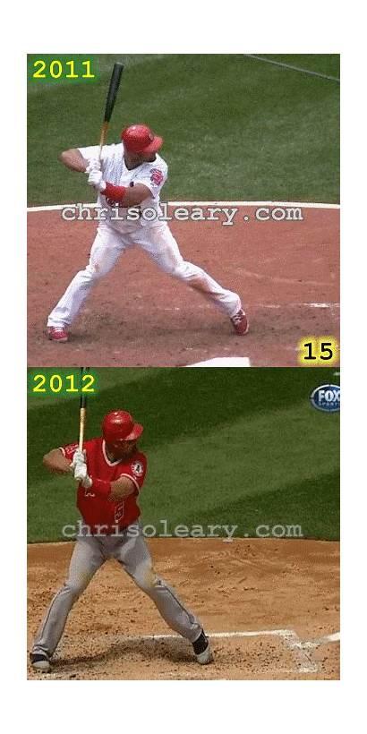 Pujols Albert Baseball Swing Hitting Clip Leg