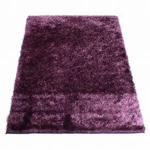 tapis shaggy aubergine 60 x 120 cm achat vente tapis With tapis shaggy soldes