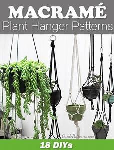 18 DIY Macramé Plant Hanger Patterns Guide Patterns