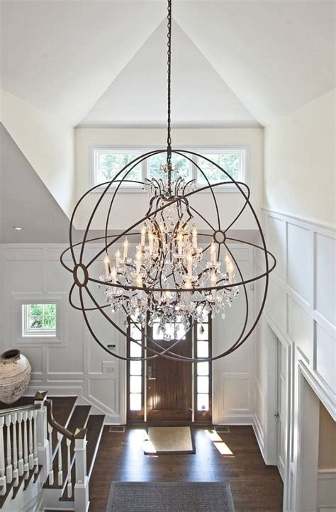 Foyer Lighting by Foyer Lighting Ideas Light Is From Restoration Hardware