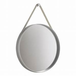 Miroir Rond Suspendu : miroir strap rond soutenu par un bandeau de silicone color hay ~ Teatrodelosmanantiales.com Idées de Décoration