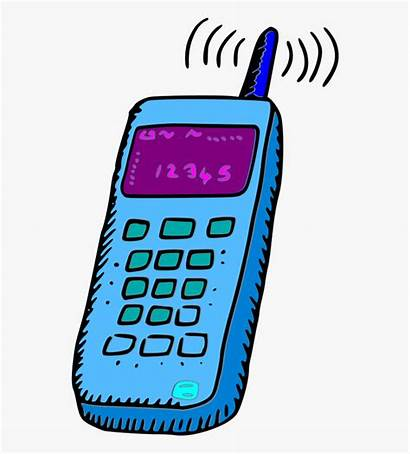 Phone Clipart Clip Cell Mobile Cartoon Phones