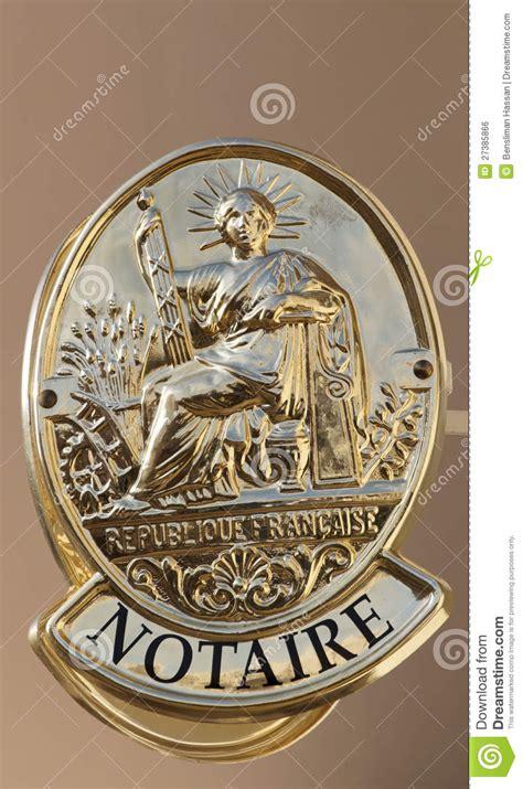 symbole français du bureau de notaire image libre de
