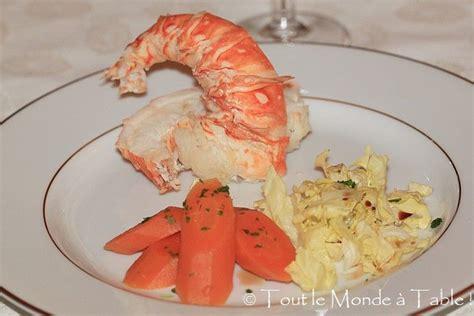 cuisiner le homard congelé comment cuire queue de homard congele