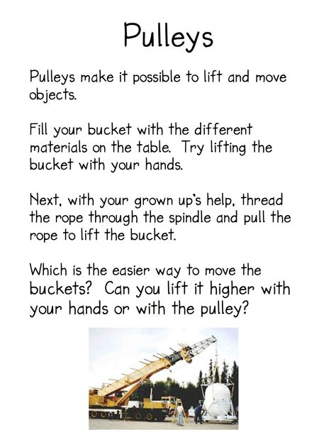 Simple Machines Pulley Examples