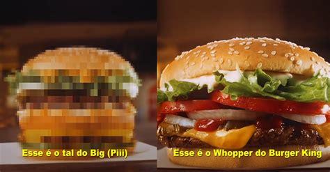 BK compara Whopper a 'Big (Piii)' em post de oportunidade ...