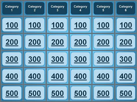 jeopardy powerpoint template great  quiz bowl