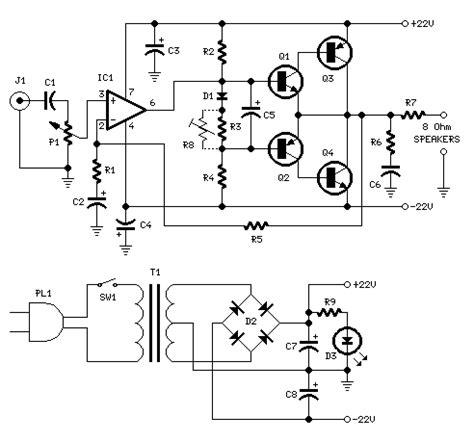 Circuit Diagram Of 10w Mini Audio Amplifier
