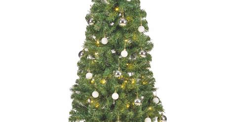 real christmas trees asda buys asda pop up tree but finds contents considerably less impressive than picture