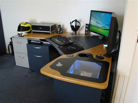 custom built gaming desk custom gaming desk google search diy pinterest