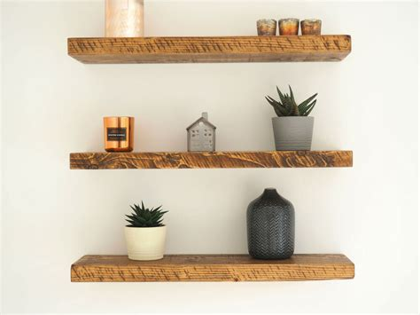Shelves Uk by Rustic Chunky Pine Floating Shelves Shelf Mantle Timber Uk