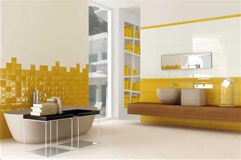 Badezimmer Gelb Dekorieren badezimmer dekorieren ideen mit wei 223 gelb bad fliesen und