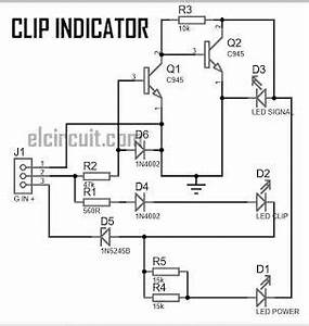 clip indicator for power amplifier electronics projects With led circuits pdf