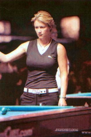 spotted allison fisher pro billiard player  link