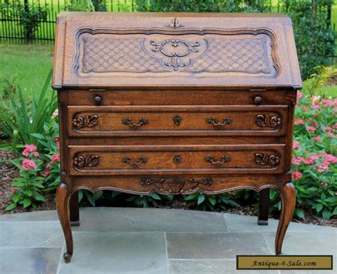 french writing desk for sale antique french oak louis style fall front writing desk